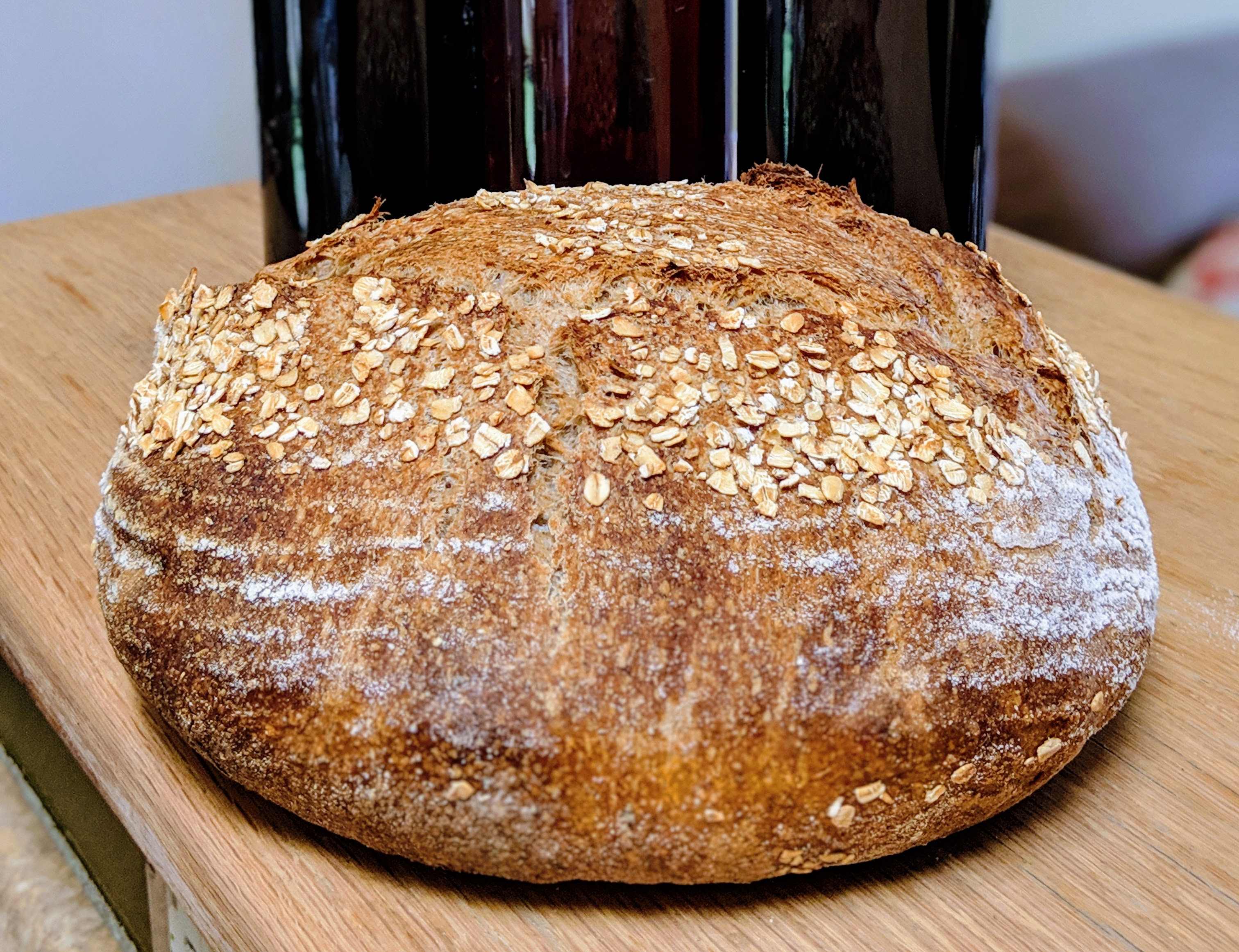 Spent grain bread