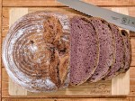 Purple sweet potato sourdough bread